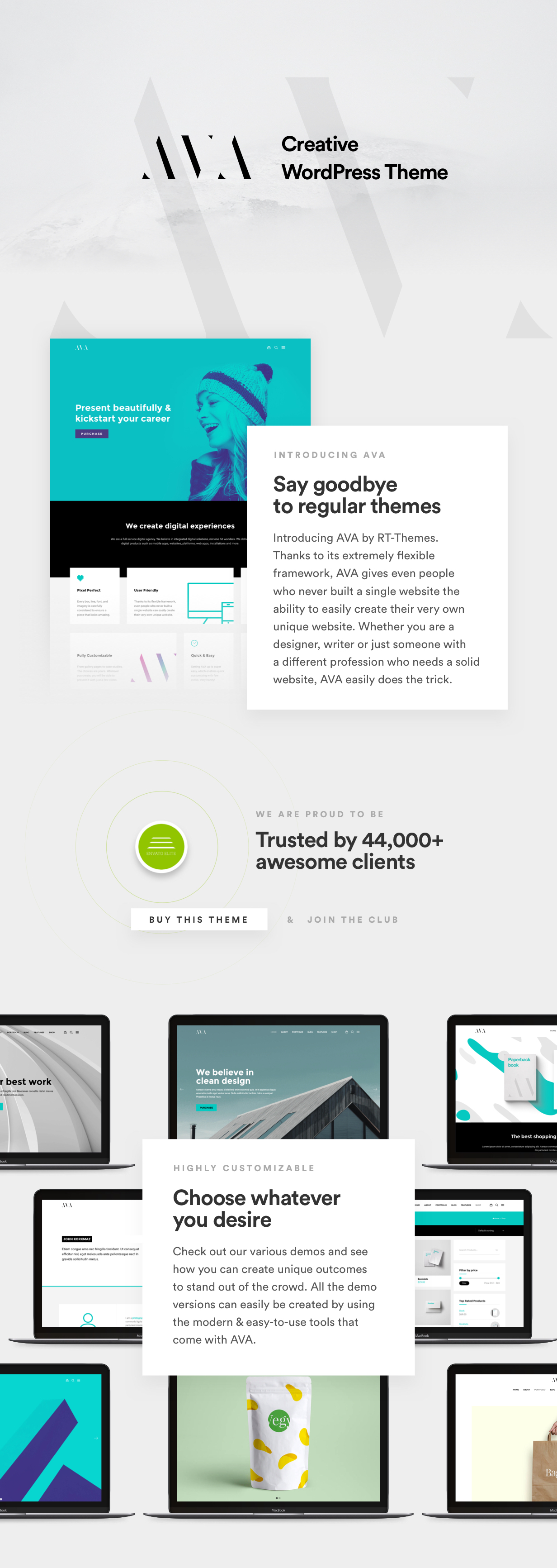 WordPress theme AVA | Extensive Creative Agency & Business WordPress Theme (Portfolio)