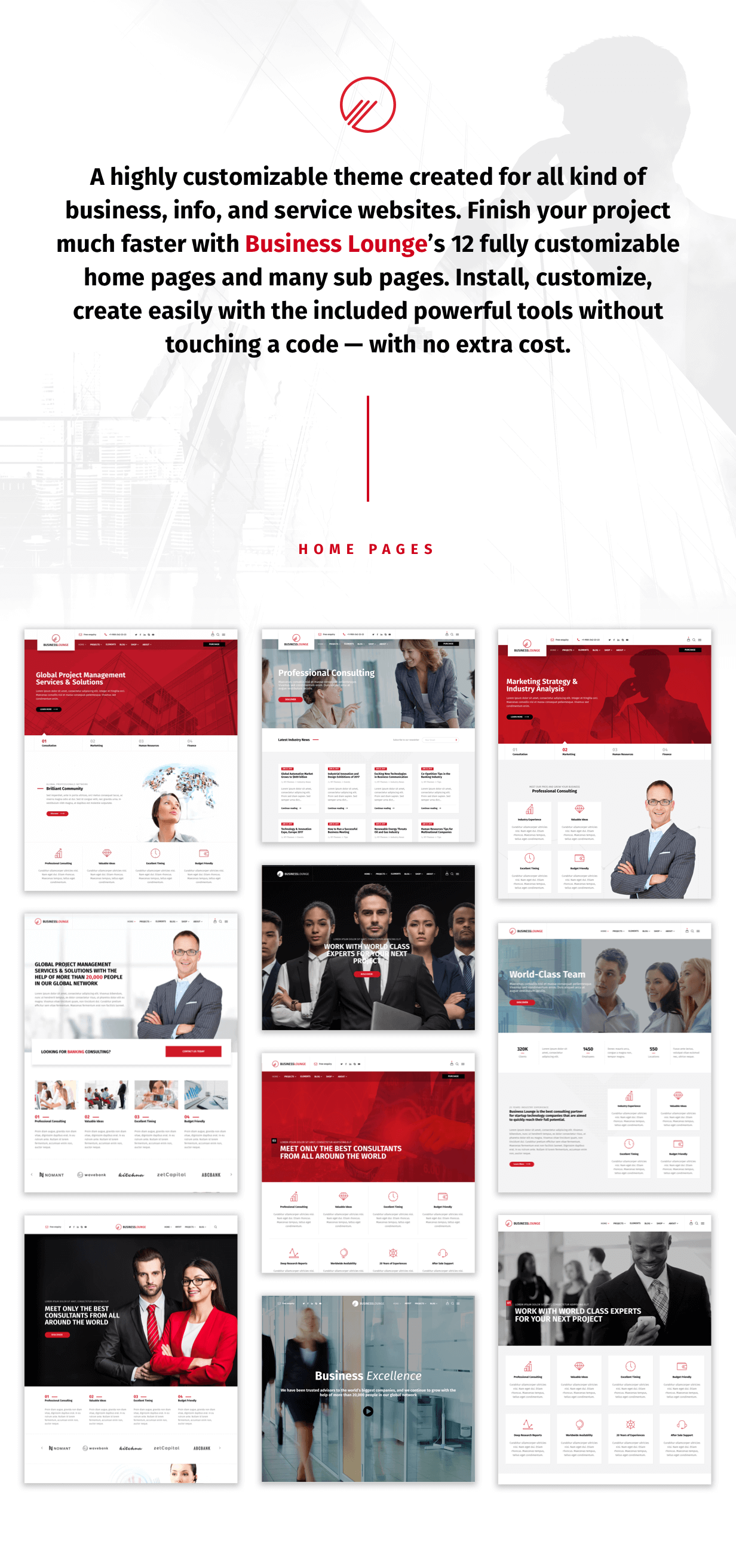 WordPress theme BusinessLounge | Multi-Purpose Business & Consulting Theme (Business)