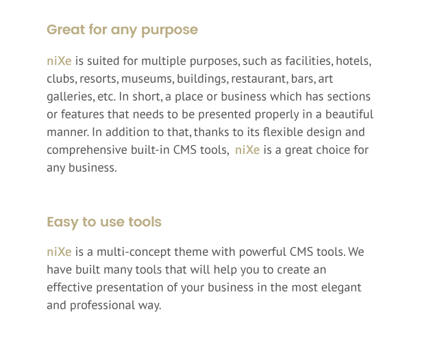 Nixe | Hotel, Travel and Holiday WordPress Theme - 3