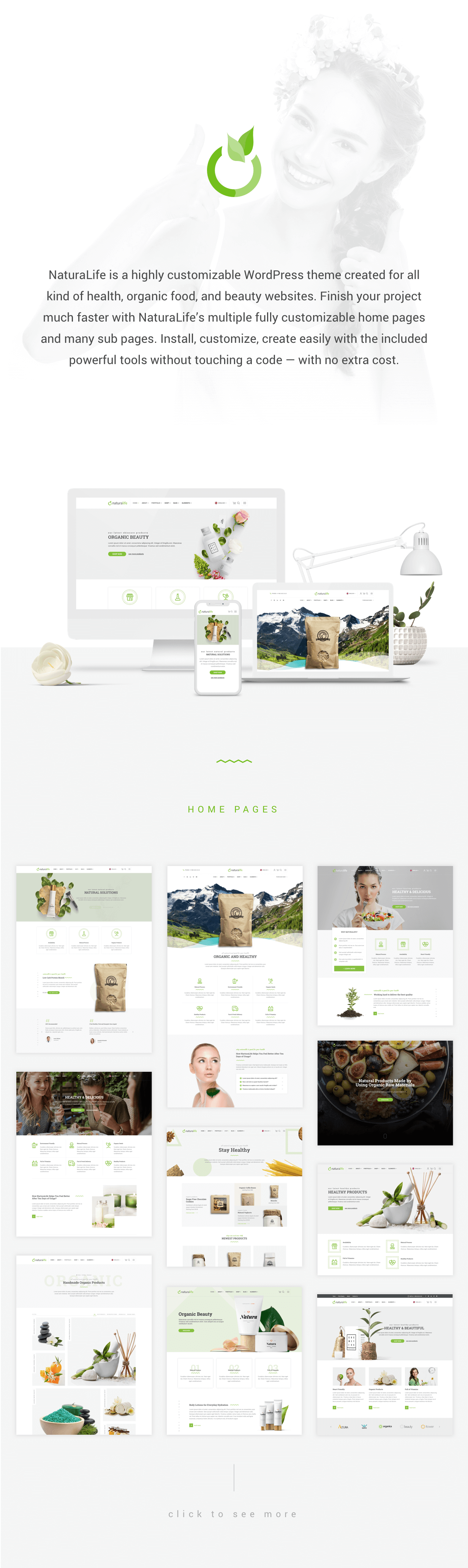 NaturaLife | Health & Organic WordPress Theme - 1