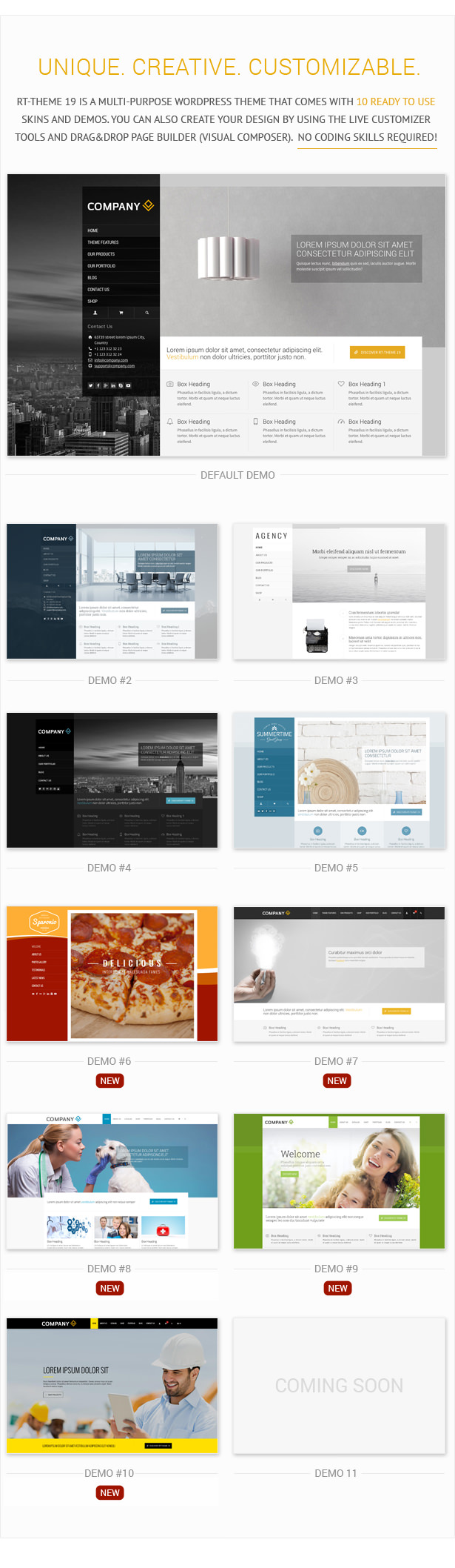 WordPress theme RT-Theme19 | Responsive Multi-Purpose WP Theme (Business)